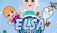Elsa Maze Adventure Game