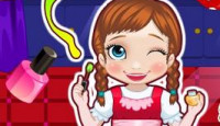 Baby Anna Manicure Shop Game