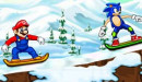 Mario Vs Sonic Skiing Game